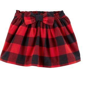 Carter's buffalo plaid holiday skirt 4T